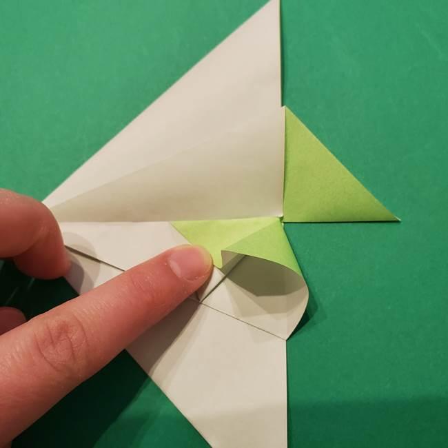 朝顔の折り紙 リースの作り方折り方①土台(29)