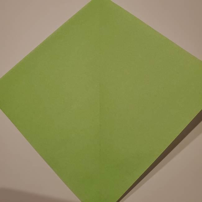 朝顔の折り紙 リースの作り方折り方①土台(3)