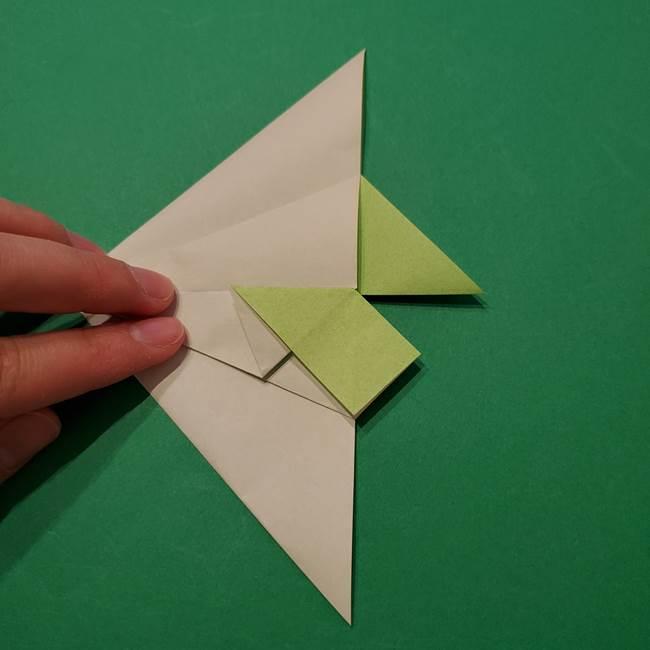 朝顔の折り紙 リースの作り方折り方①土台(30)