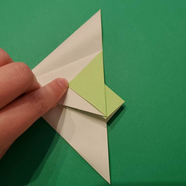 朝顔の折り紙 リースの作り方折り方①土台(31)