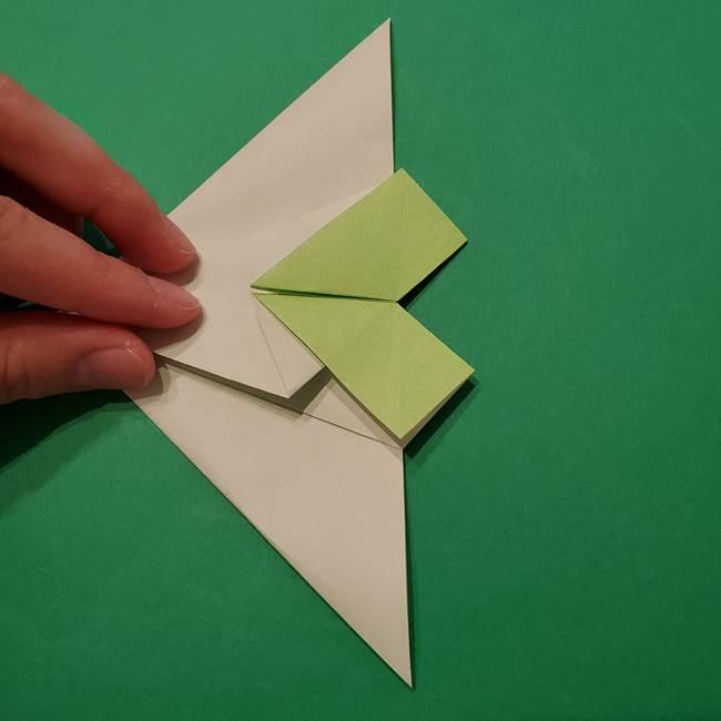 朝顔の折り紙 リースの作り方折り方①土台(32)