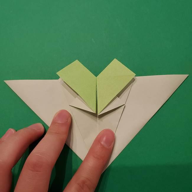 朝顔の折り紙 リースの作り方折り方①土台(33)