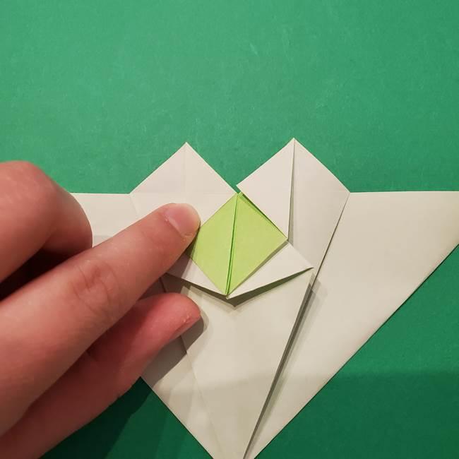 朝顔の折り紙 リースの作り方折り方①土台(34)