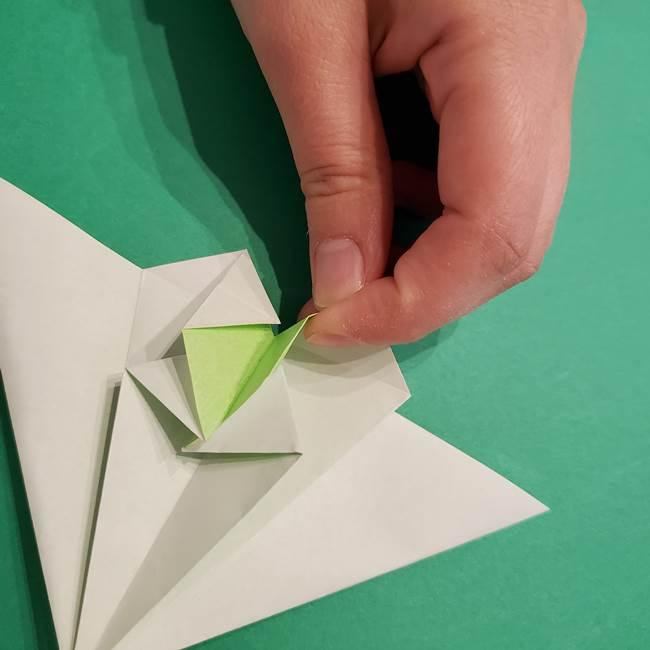 朝顔の折り紙 リースの作り方折り方①土台(35)