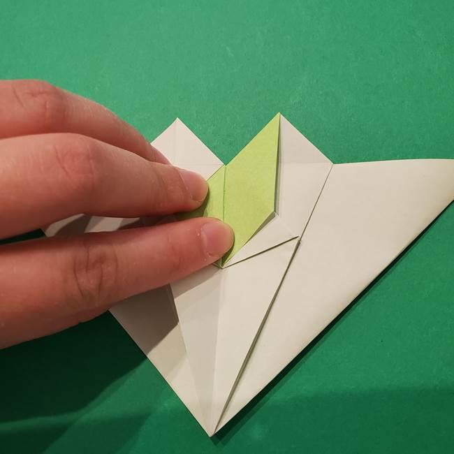 朝顔の折り紙 リースの作り方折り方①土台(36)
