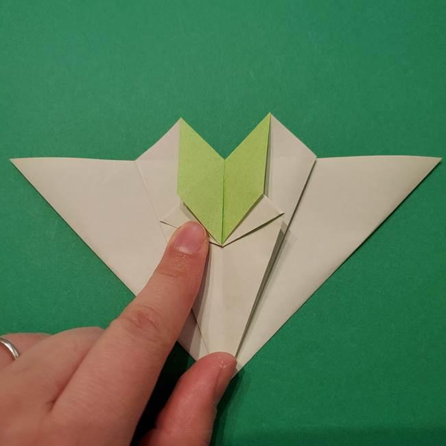 朝顔の折り紙 リースの作り方折り方①土台(37)