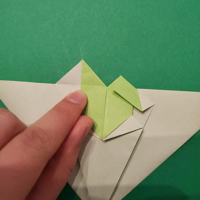 朝顔の折り紙 リースの作り方折り方①土台(38)