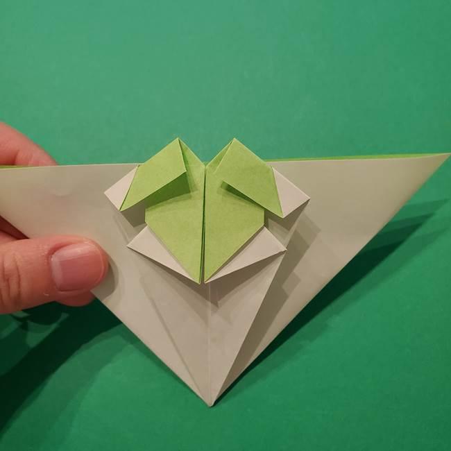 朝顔の折り紙 リースの作り方折り方①土台(39)