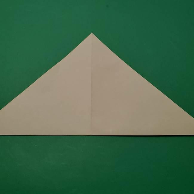 朝顔の折り紙 リースの作り方折り方①土台(4)