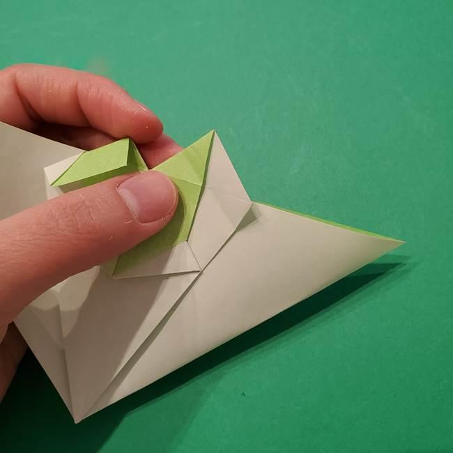 朝顔の折り紙 リースの作り方折り方①土台(40)