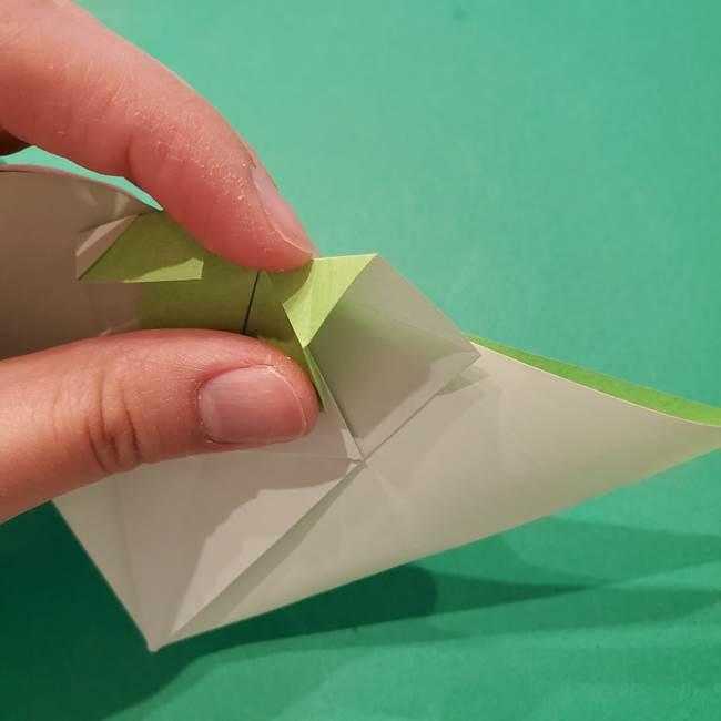 朝顔の折り紙 リースの作り方折り方①土台(41)