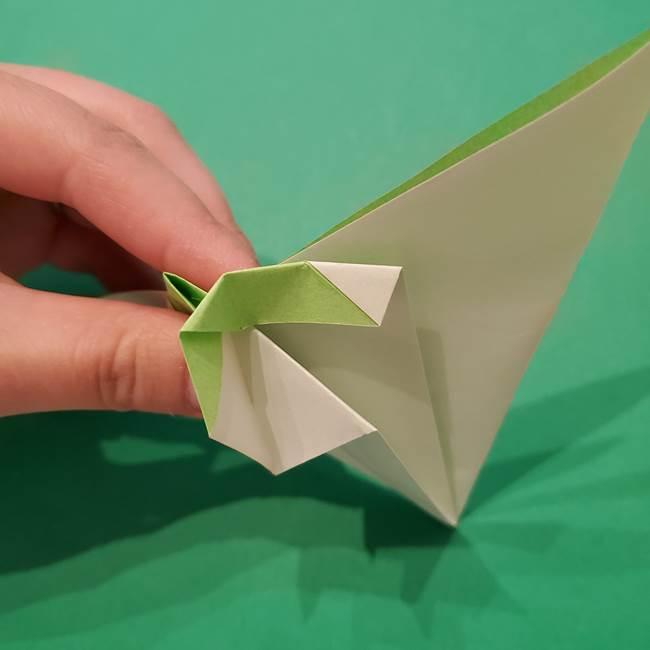 朝顔の折り紙 リースの作り方折り方①土台(42)