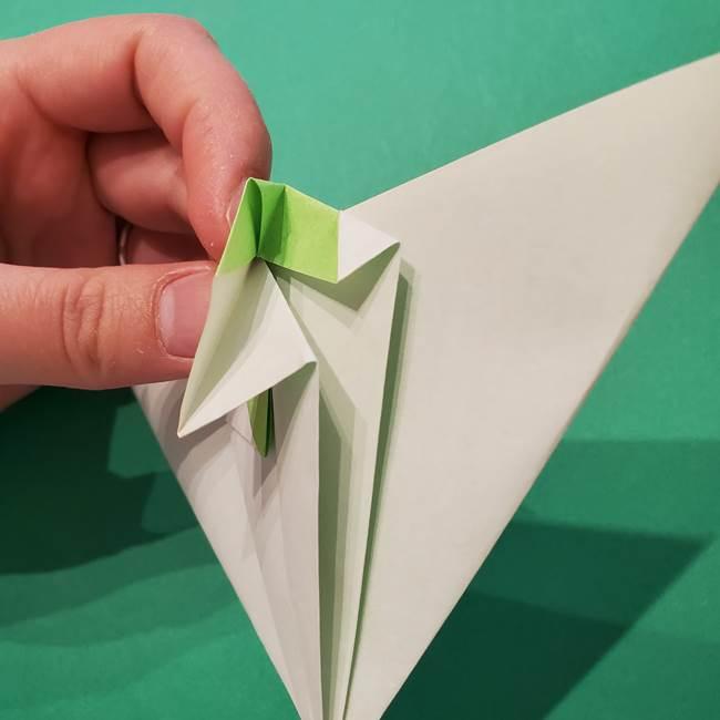 朝顔の折り紙 リースの作り方折り方①土台(43)