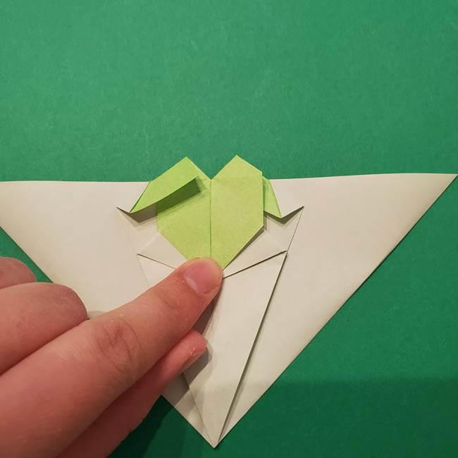 朝顔の折り紙 リースの作り方折り方①土台(44)