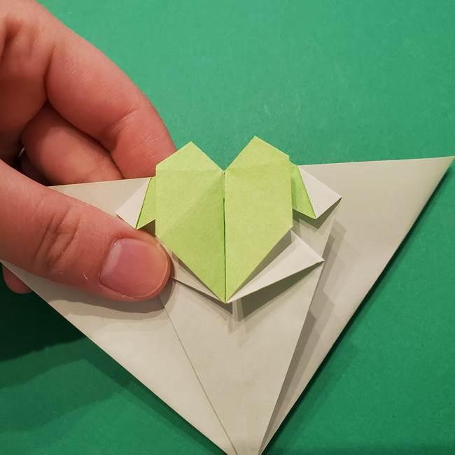 朝顔の折り紙 リースの作り方折り方①土台(45)