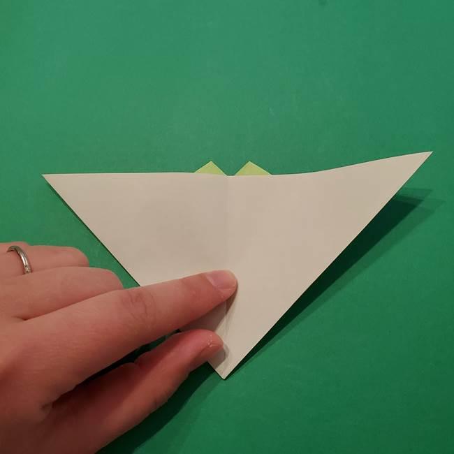 朝顔の折り紙 リースの作り方折り方①土台(46)