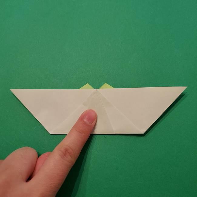 朝顔の折り紙 リースの作り方折り方①土台(47)