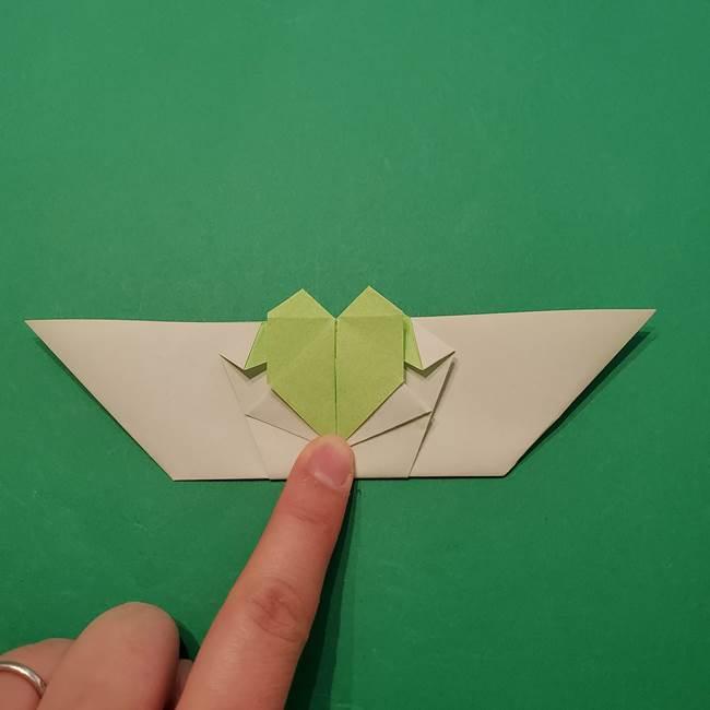 朝顔の折り紙 リースの作り方折り方①土台(48)