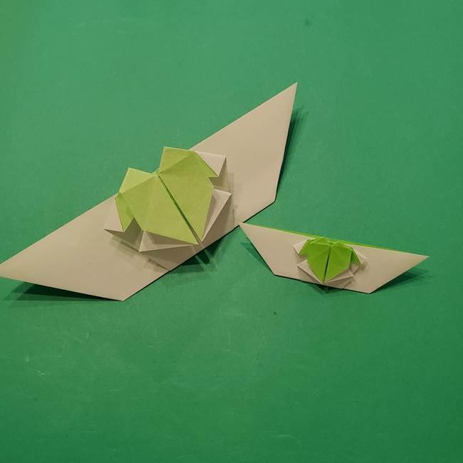 朝顔の折り紙 リースの作り方折り方①土台(49)