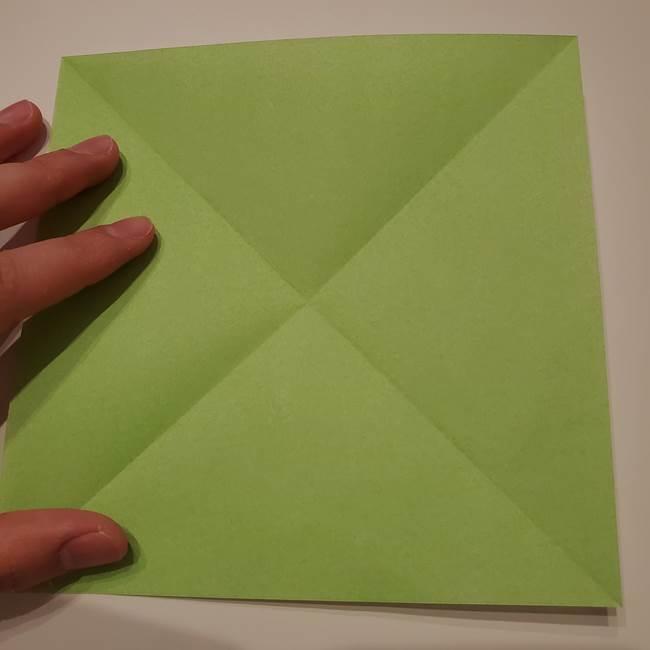 朝顔の折り紙 リースの作り方折り方①土台(5)
