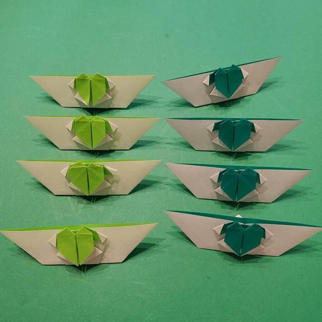 朝顔の折り紙 リースの作り方折り方①土台(50)