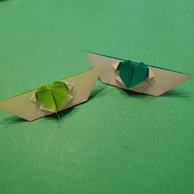 朝顔の折り紙 リースの作り方折り方①土台(51)