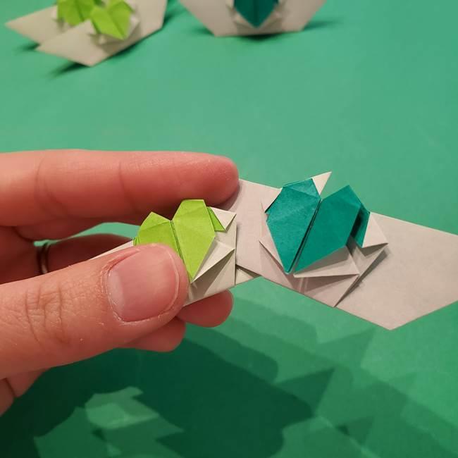 朝顔の折り紙 リースの作り方折り方①土台(52)