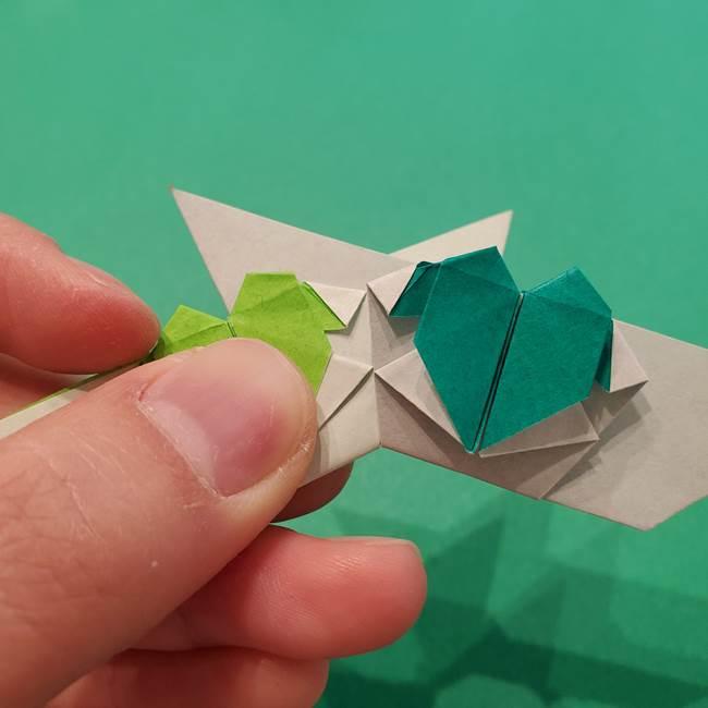 朝顔の折り紙 リースの作り方折り方①土台(53)