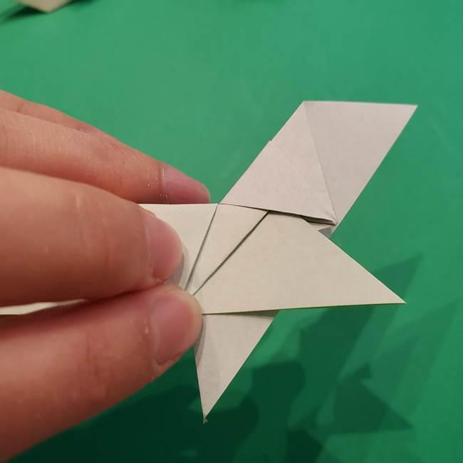 朝顔の折り紙 リースの作り方折り方①土台(54)
