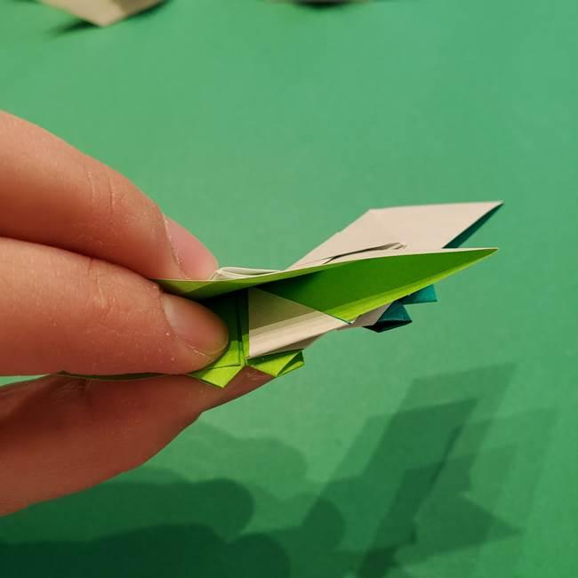 朝顔の折り紙 リースの作り方折り方①土台(55)