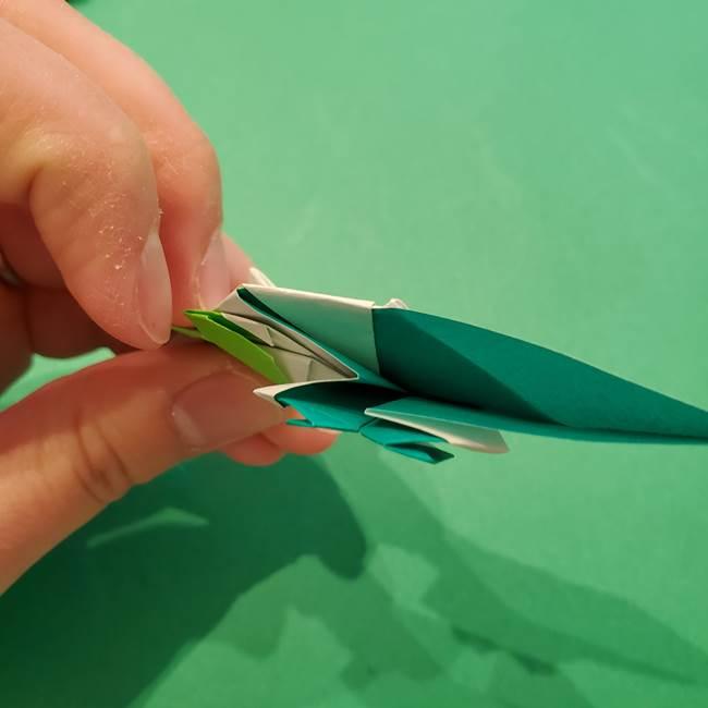 朝顔の折り紙 リースの作り方折り方①土台(57)