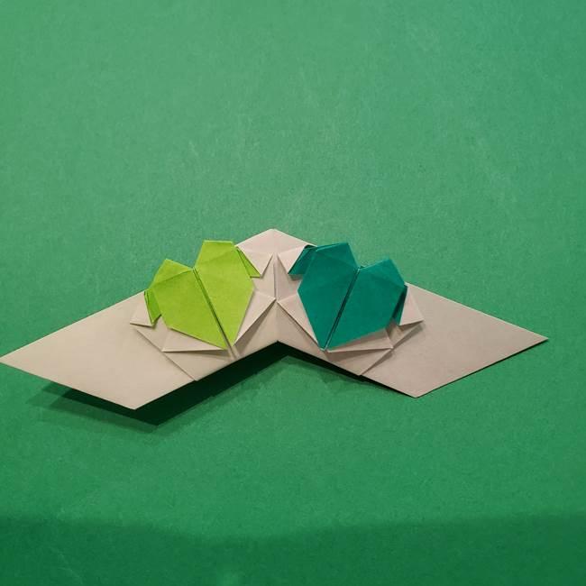 朝顔の折り紙 リースの作り方折り方①土台(58)