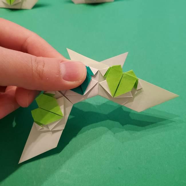 朝顔の折り紙 リースの作り方折り方①土台(59)