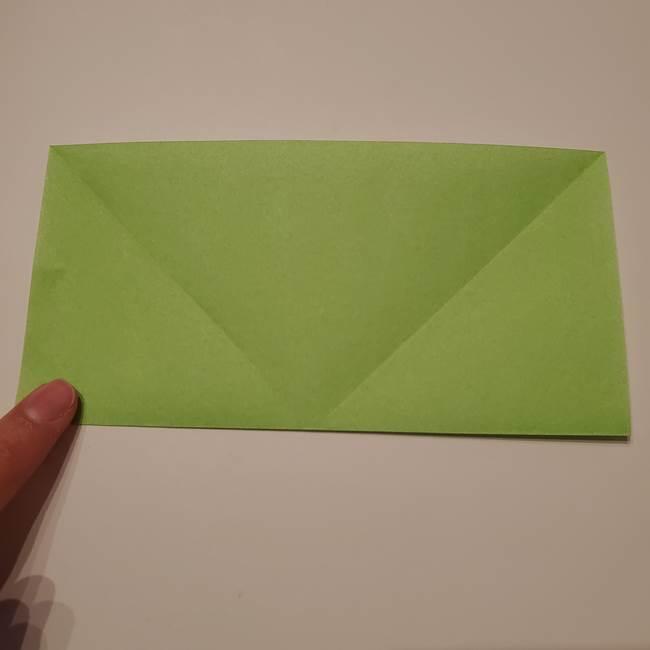 朝顔の折り紙 リースの作り方折り方①土台(6)