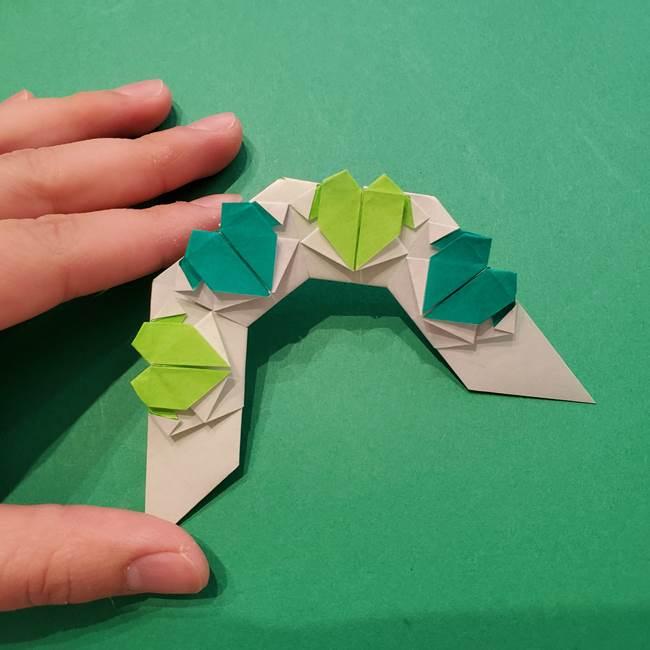 朝顔の折り紙 リースの作り方折り方①土台(60)