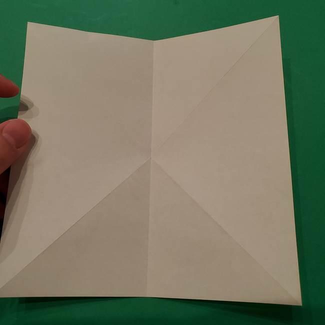 朝顔の折り紙 リースの作り方折り方①土台(7)