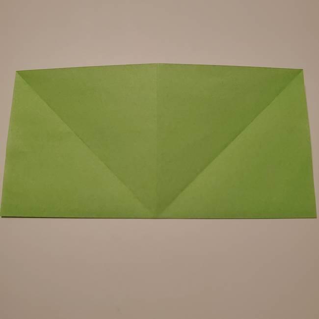 朝顔の折り紙 リースの作り方折り方①土台(8)
