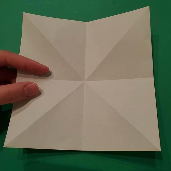 朝顔の折り紙 リースの作り方折り方①土台(9)