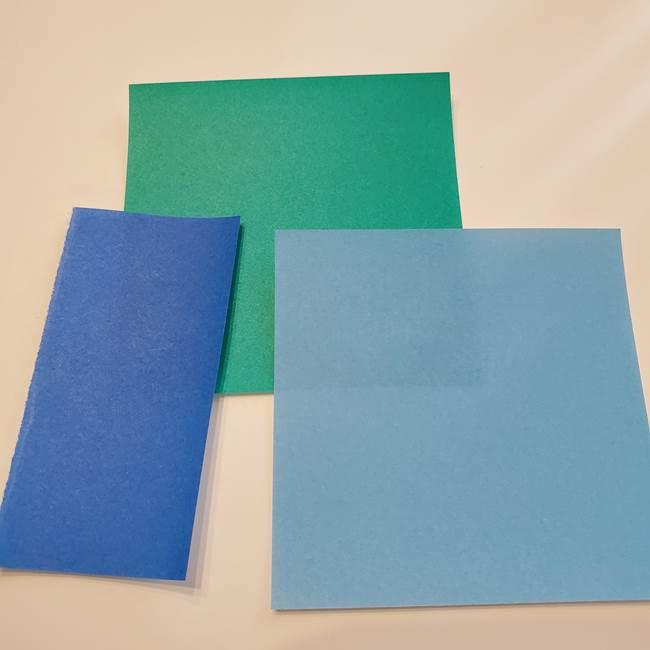 朝顔の折り紙リースは高齢者の7月壁面制作にも☆用意するもの花1