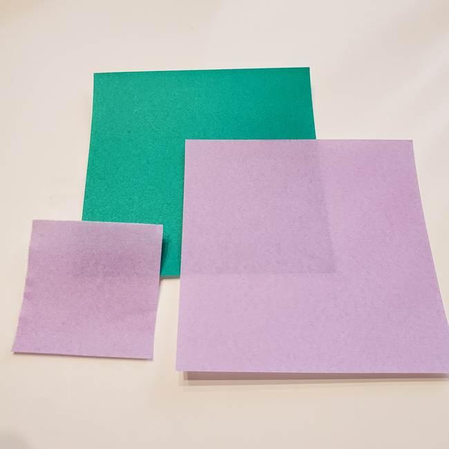 朝顔の折り紙 リースの作り方折り方②花(2)