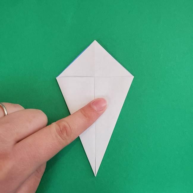 朝顔の折り紙 簡単で子供・幼児もつくれる作り方(10)