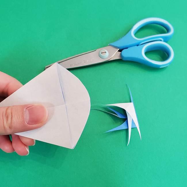 朝顔の折り紙 簡単で子供・幼児もつくれる作り方(11)