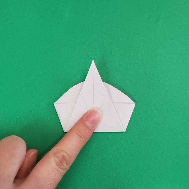 朝顔の折り紙 簡単で子供・幼児もつくれる作り方(12)