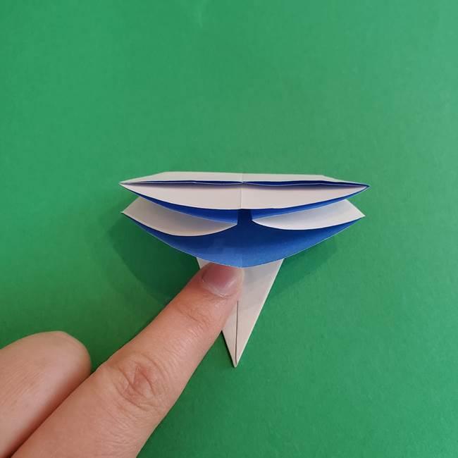 朝顔の折り紙 簡単で子供・幼児もつくれる作り方(13)