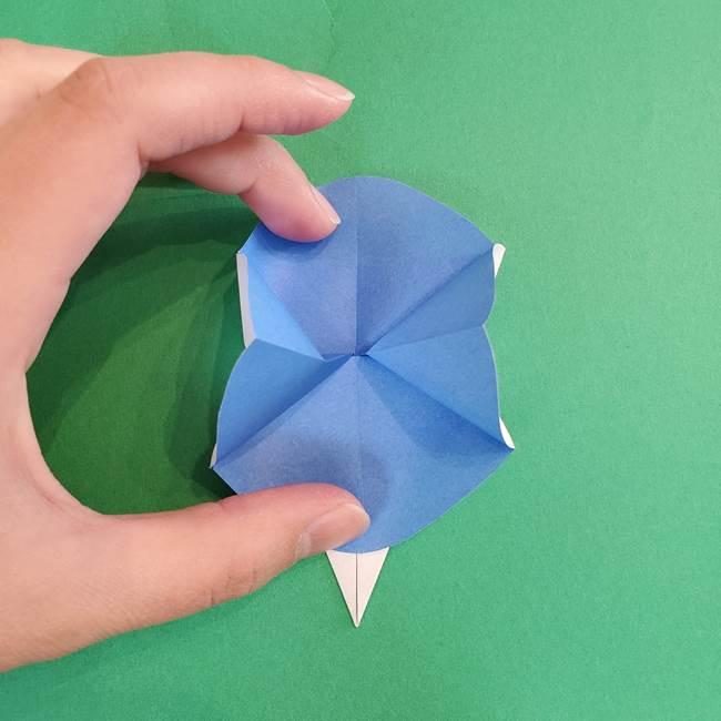 朝顔の折り紙 簡単で子供・幼児もつくれる作り方(14)