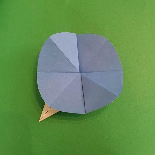 朝顔の折り紙 簡単で子供・幼児もつくれる作り方(15)