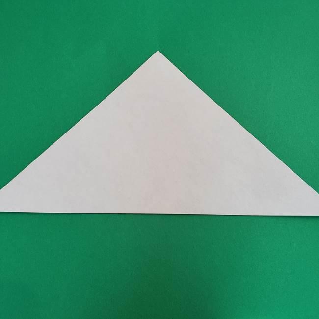 朝顔の折り紙 簡単で子供・幼児もつくれる作り方(2)