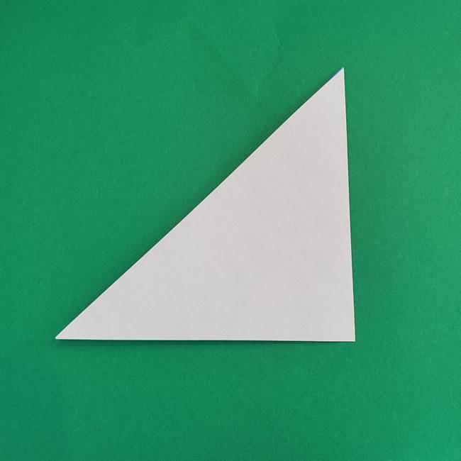 朝顔の折り紙 簡単で子供・幼児もつくれる作り方(3)