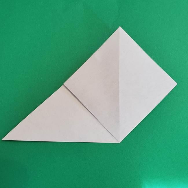 朝顔の折り紙 簡単で子供・幼児もつくれる作り方(5)