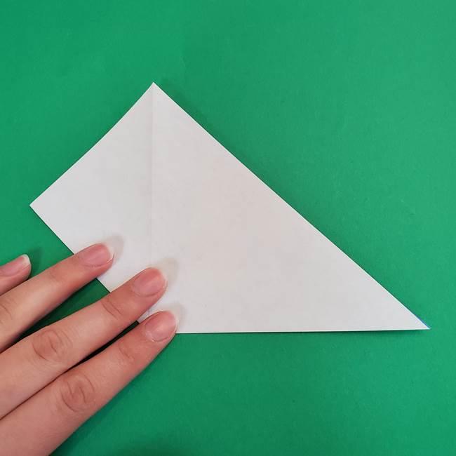 朝顔の折り紙 簡単で子供・幼児もつくれる作り方(6)